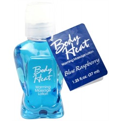 Body Heat Warming Massage Lotion - 1.25 Fl. Oz. - Blue Raspberry