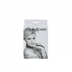 Sex and Mischief Leash and Collar - Black