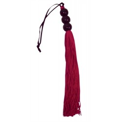 Sex and Mischief Rubber Whip Small 10 Inch - Red