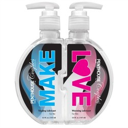 Penthouse Couples Collection - Make Love Warming  and Tingling Lubricants - Two 5 Fl. Oz./ 147ml Bottles