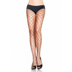 Fence Net Pantyhose - One Size - Black