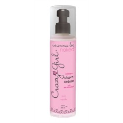 Crazy Girl Wanna Be Naked Intimate Shave  Creme Pink Cupcake 8 Oz Cupcake 8 Oz.