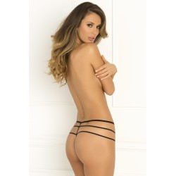 Wanted and Wild Crotchless Panty - Medium/large - Black