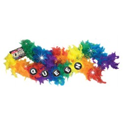 Flashing Queen Party Boa - Rainbow