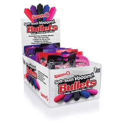 Soft-Touch Vooom! Bullets - 20 Count Pop Box Display - Assorted Colors