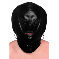 Bondage Hood with Posture Collar &amp Zippers