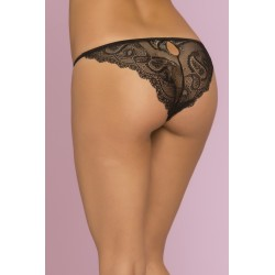 Sophia Paisley Floral Lace Panty  - Small - Black