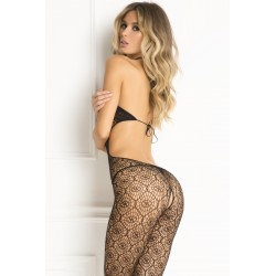 Indiscreet Crochet Bodystocking  - One Size - Black