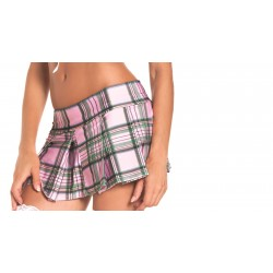 Pink Pleated School Girl Skirt - Medium/ Large