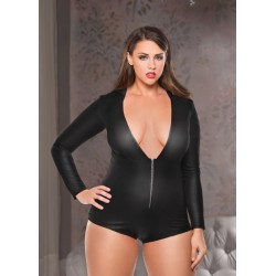 Hooded Jumper - Black - One Size Plus Size