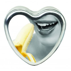 Edible Heart Candle - Banana - 4 Oz.