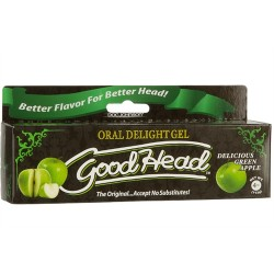 Good Head Oral Delight Gel 4 Oz - Green Apple