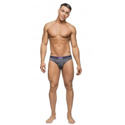 Heather Haze - Cutout Jock - Large/ Extra Large - Grey