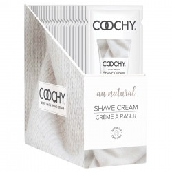 Coochy Shave Cream - Au Natural - 15 ml Foils 24 Count Display