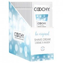 Coochy Shave Cream - Be Original - 15 ml Foils 24 Count Display
