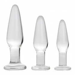 Adam &amp Eve Glass Anal Training Trio