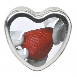 Edible Heart Candle - Strawberry - 4 Oz.