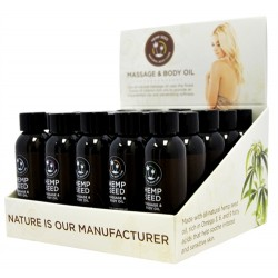 Hemp Massage Oil Assorted 2 Oz - 25 Piece Display