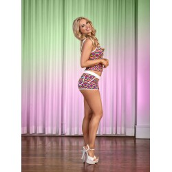 Exposed Pride Tank Top &amp Short Set Queen Size - Multicolor