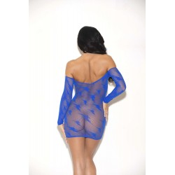 Lightning Long Sleeve Chemise - One Size - Blue