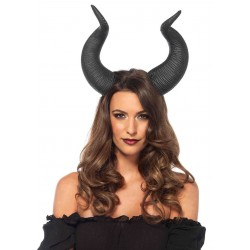 Latex Animal Horn Head Piece Black