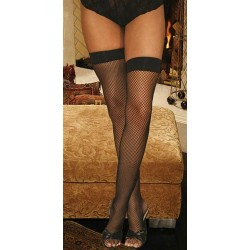 Fishnet Thigh Hi - Black