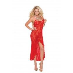 Lace Gown - One Size - Red