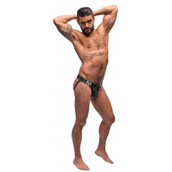 Black Ice Lace Up Jock - S/m