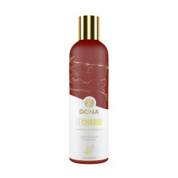 Dona Essential Massage Oil Recharge Lemongrass & Ginger 4 oz.