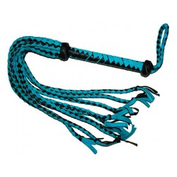 Sued Leather Whip Blue & Black