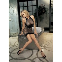 Honey Comb Fishnet Dress - One Size  - Black
