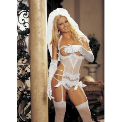 3-Piece Bride Set - One Size - White