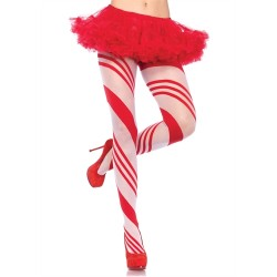 Spandex Sheer Candy Striped Pantyhose