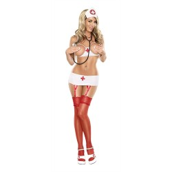 Nurse This 1x-3x - Queen Size - White