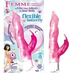 Femme Fatale Flexible Butterfly Vibrator and  Clitoral Stimulator