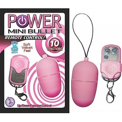 Power Mini Bullet Remote Control - Pink