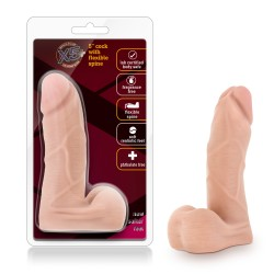 X5 5.5 Inch Cock With Flexible Spine - Natural