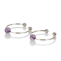 Intimate Play Nipple &amp Clitoral Non-Piercing Jewelry - Amethyst