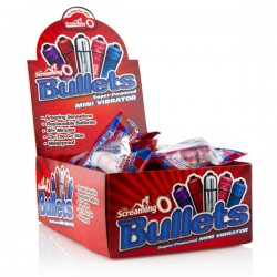 Screaming O Bullets - 20 Piece Pop Box Display - Assorted Colors
