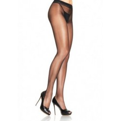 Spandex Sheer to Waist Support Pantyhose - One Size - Black