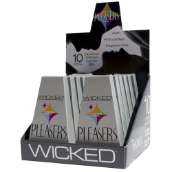 Pleasers - 12 Piece Display - Each Containing 10 Lubricant Packettes