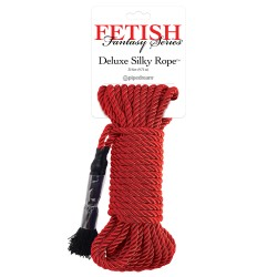Fetish Fantasy Series Deluxe Silky Rope - Red