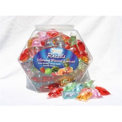 Razzels Warming Lubricant - 100 Pillow Fishbowl - Assorted Flavors