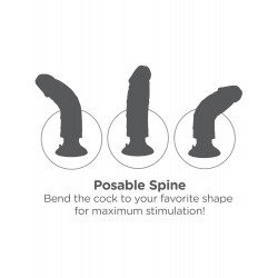 King Cock 8-Inch Vibrating Cock - Brown