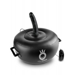 King Cock Deluxe Vibrating Inflatable Hot Seat -  Black