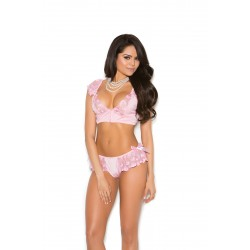 Bralette &amp Skirted Panty - Large  - Pink