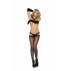 Sheer Criss Cross Suspender Pantyhose - One Size