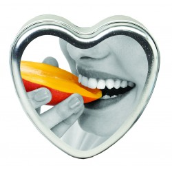 Edible Heart Candle - Mango - 4 Oz.