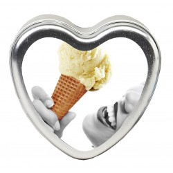 Edible Heart Candle - Vanilla - 4 Oz.