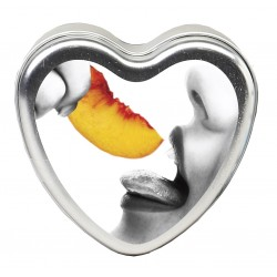 Edible Heart Candle - Peach - 4 Oz.